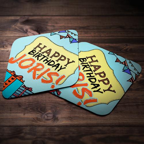 Bierviltjes voor een verjaardagsfeestje!